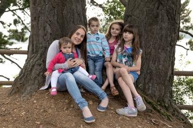 María José e hijos